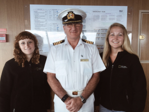 Photo - Jess Mandia, Captain Tony Herriott, Becky Davis