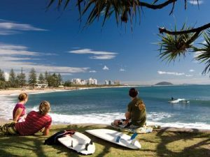 Surfers at Alexandra Headland Sunshine Coast