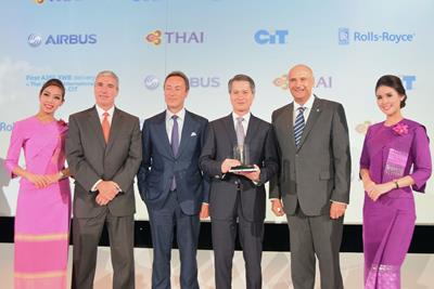 TG096-THAI Takes Delivery of its First Airbus A350XWB