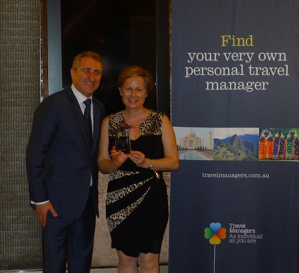 TravelManagers executive general manager Michael Gazal and Jutta Portelli – PTM