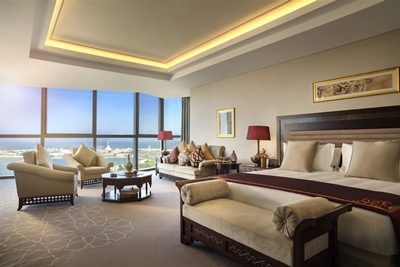 View from the new Bab Al Qasr opening in Abu Dhabi in Q3 2016