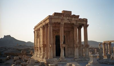 1. Syria - Temple of Baalshamin, Palmyra. Credit - Stephen Rowland, Oxford Archaeology North
