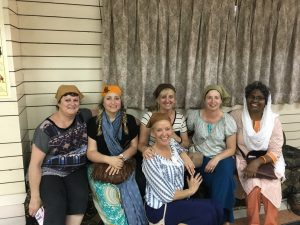 Christine Jenkins, Jacqui Cameron, Liz Van-Boxel, Trish Hollis, Trish O'Brien & Lilly Kurian - Office Manager at TWX  on the Old Delhi Tour
