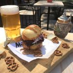 Murray's Oktoberfest specially brewed beer and festival food such as Smoked Kransky Burgers