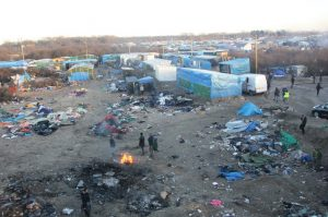 Overview of the Jungle near Calais