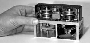 Inside an early version of the black box flight recorder