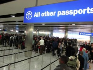 Queue at immigration