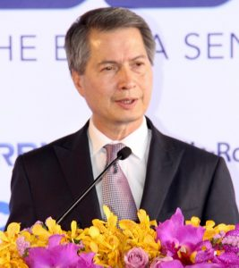 Caption: Thai Airways President Mr Charamporn Jotikasthira
