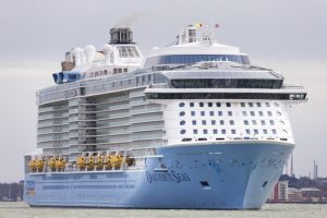 EDITORIAL USE ONLY Ovation of the Seas, with its 18 decks and extraordinary adventures onboard, is a brand new ship from Royal Caribbean and the first of the new ships to sail into Southampton this season.  PRESS ASSOCIATION Photo. Picture date: Sunday April 10, 2016. Photo credit should read: Chris Ison/PA Wire