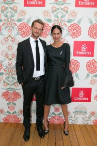 Adam Ellis and Lindy Klim at the Emirates Marquee, Derby Day 2016