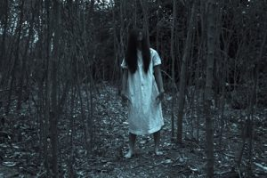 Ghost Girl Series,Halloween or Horror Concept Background
