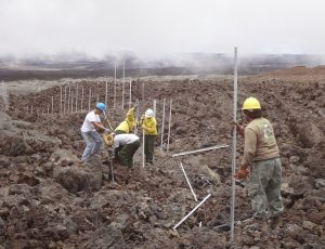 us-national-park-service-crew-working-on-cat-proof-fence-in-lava-fields