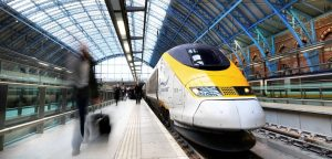 Eurostar train in St Pancras International