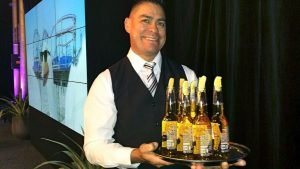 Air New Zealand flight attedant offers Corona beers