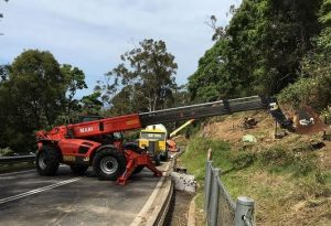 Road works on Bulli Pass