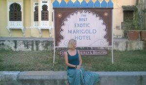 Mona Seul, Flight Centre, outside Best Exotic Marigold Hotel