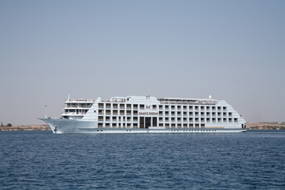 The MS Omar El Khayam ship on Lake Nasser, Egypt