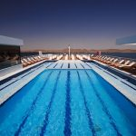 The Sun Deck swimming pool on the MS Omar El Khayam ship