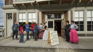 Historic Walking Tour; Parks Canada; Dawson City; Yukon; CTC Signature Experiences Collection; Releases on file; Location coordinates 64° 03' 40'' N, 139° 25' 48'' W