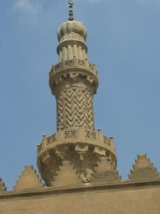 A beautiful minar of a mosque in Citadel, Cairo