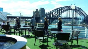 View from the ship at the Overseas Passenger Terminal, Sydney