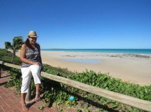 Personal travel manager Nicole Edgar at beautiful Cable Beach, Broome