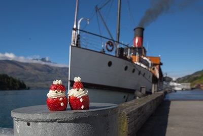 Strawberries on tour - the Kringle's prepare for a cruise on Queenstown'...