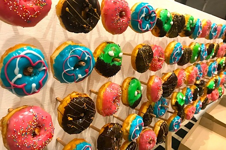 Delicious! It's the Travel Portland donut wall