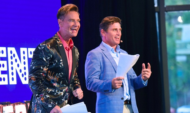 I'm A Celebrity Get Me Out of Here' Winner Richard Reid and Hawthorn Footballer and jungle buddy Shane Crawford MCs for the evening.