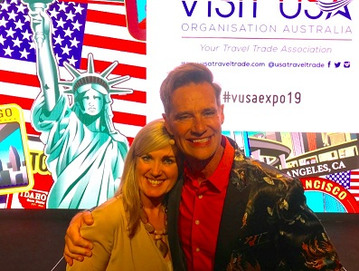 Richard Reid and Visit USA President Lucy Rowe